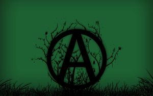 Green Anarchism Wallpaper by anarchoart