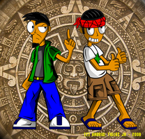 Pepito and Juan -new style- by Quetzalcoatl2k