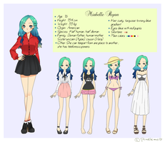 Mirabelle Ryan: character sheet by vickiehime