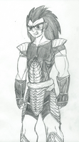 Character Redesign Madness: Raditz by DeviantK14