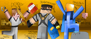 Deadlox , SkyDoesMinecraft And MinecraftUniverse by Yvesia