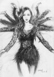 Itano Tomomi pencil drawing by wrexjapan