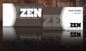 Zen Business Card by inkrush