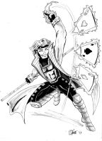 Copic Sketch - Gambit by MarcusSmiter