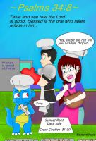Lil scrip Psalm 34:8 by Pact-Comics