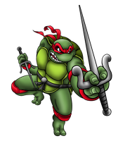 Raphael Is Cool, But Rude by ProfessorMegaman