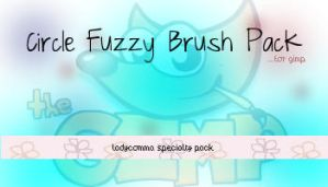 Circle Fuzzy Brush Pack for Gimp by LadyComma