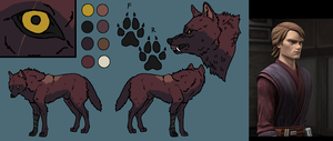 Anakin's Wolf Form by WhiteWolfCrisis13