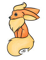 Flareon bored paint by myheartyoung