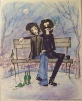 Ville Valo and Jyrki 69 by Kurator-DLFlaming