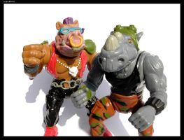 Bebop + Rocksteady Close-Up by webPHIX
