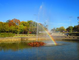 Fountain in Warsaw by Sanetta