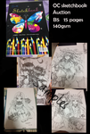 OC Sketchbook 18 Pages Auction OPEN ( Closed) by shrimpHEBY