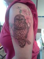 owl tattoo by Kittencaboodles