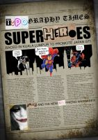Superheroes newspaper by danieltty88