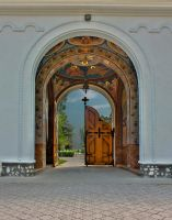 Gate of Bodrog Monastry by mariustipa