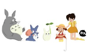 Totoro Google Doodle by Maglii