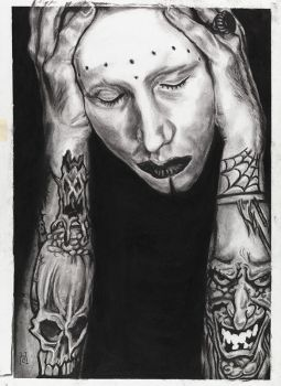 Brian Warner by burntwoodstudio