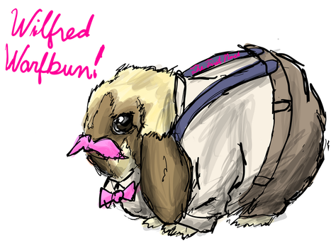 Rabbit Drawings- Wilfred Warfbun! by The-First-Noel