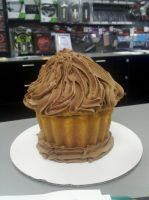 Giant Chocolate Cupcake Of Happiness by wickedwitchinc
