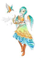 Alcyone - The Kingfisher Girl by RoCkBaT