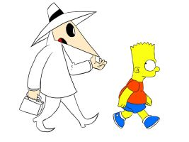 Bart Simpson and The White Spy by nicogh9