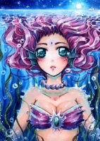 ACEO 129 sea goddess by MIAOWx3