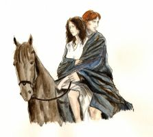 Outlander - Jamie and Claire by LittleSeaSparrow