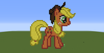 Applejack (Minecraft Pixel Art) by wolfspain12