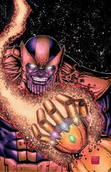 Thanos by Jacob Newell 2015 by JacobNewell-ComicArt