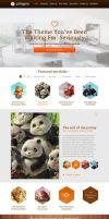 Polygon - One Page Business / Portfolio PSD Templa by prestigedesign