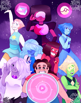 :We Are the Crystal Gems!: by ArexStar