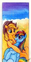 Bookmark: Applejack and Rainbow Dash by Suane