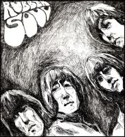 Beatles, ballpoint. by weile