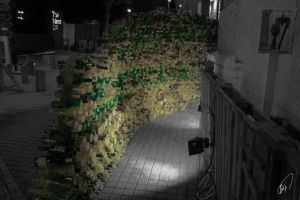 Bottle Wall - Bahrain by Khalid-AlThawadi