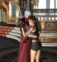 Dante X Lara Croft 109 by candycanecroft