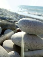Stones by the sea by EricaOscura