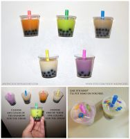 Bubble milk tea Fridge Magnets by Meowchee