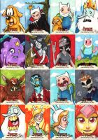 Adventure Time Sketch Cards 1 of 3 by Bloodzilla-Billy