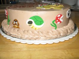 Bowser cake- side view 1 by Sumrlove