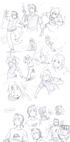 practice sketches 3 by meago