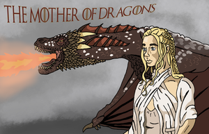 The  Mother of Dragons by Juggernaut-Art