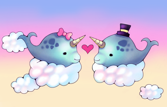 Narwhal Love by BaneIing