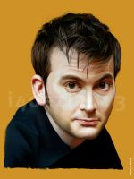 David Tennant (old portrait) by i4dezign73