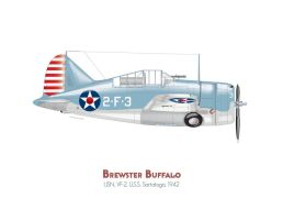 Brewster Buffalo F2A by MercenaryGraphics