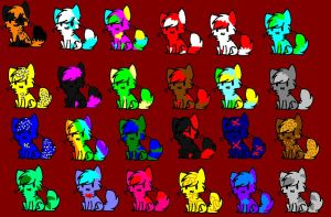24 free adoptables CLOSED by flameshadow2276