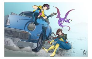 Jubilee Kitty Pryde by KenshiRonin