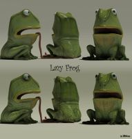Lazy Frog by 3DNeksus