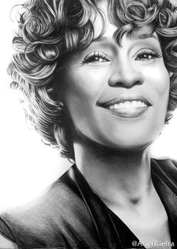 Whitney Houston by riefra