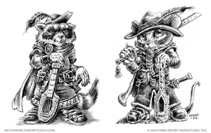 Raccoon and Mouse Bards- Critter Kingdoms by vikingmyke